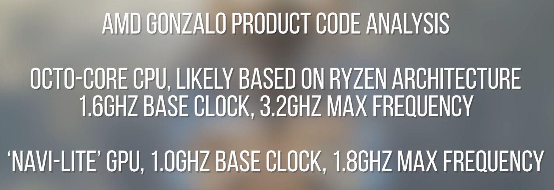 AMD Gonzalo CPU GPU