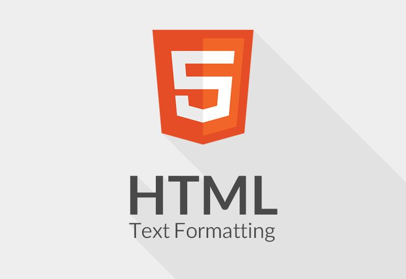 عناصر قالب بندی متون در HTML