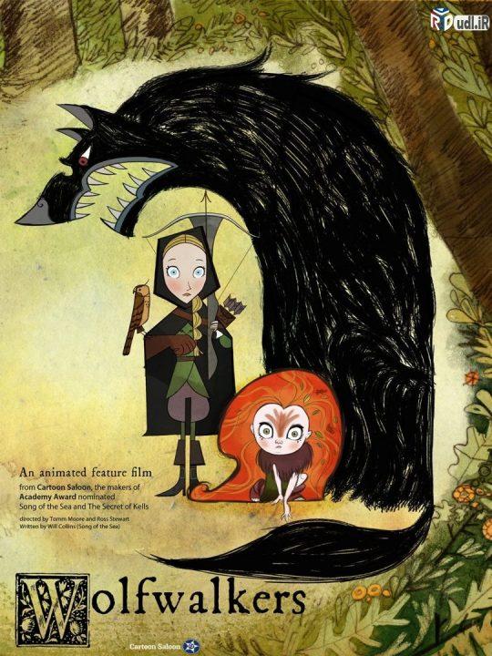 دانلود انیمیشن Wolf walkers 2020 دوبله فارسی